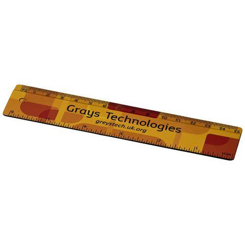 Kantoorartikelen bedrukken Terran 15 cm liniaal van 100% gerecycled kunststof 21053400