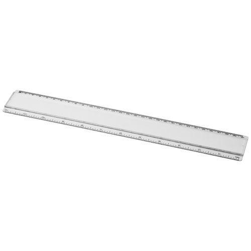 Kantoorartikelen Ellison 30 cm kunststof liniaal met papieren inlay 21053700