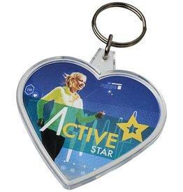 Sleutelhangers bedrukken Combo hartvormige sleutelhanger