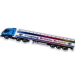 Kantoorartikelen bedrukken Loki 15 cm kunststof liniaal met vrachtwagenvorm
