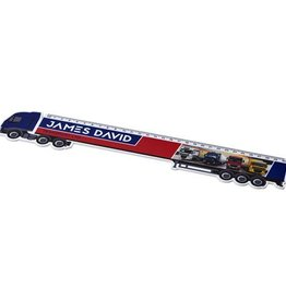 Kantoorartikelen bedrukken Loki 30 cm kunststof liniaal met vrachtwagenvorm