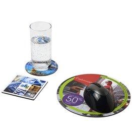 Computer gadgets relatiegeschenk Q-Mat® driedelige combiset van muismat en onderzetter 4