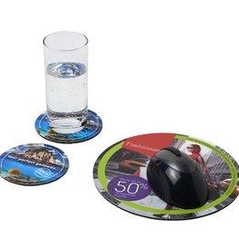 Computer gadgets bedrukken Q-Mat® driedelige combiset van muismat en onderzetter 5