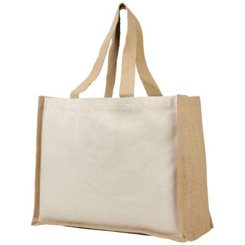 Boodschappentassen bedrukken Varai 340 g/m² canvas en jute boodschappentas 21070100