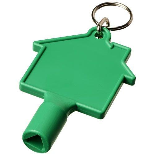 Gereedschap en multitools bedrukken Maximilian huisvormige meterbox-sleutel met sleutelhanger 21087100