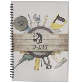 Notitieboekjes bedrukken Desk-Mate® A4 wire-o notitieboek met PP-omslag