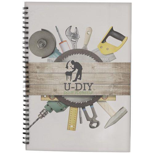 Notitieboekjes bedrukken Desk-Mate® A4 wire-o notitieboek met PP-omslag 21246002