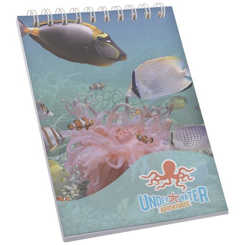 Notitieboekjes bedrukken Desk-Mate® A7 wire-o notitieboek met PP-omslag 21249002