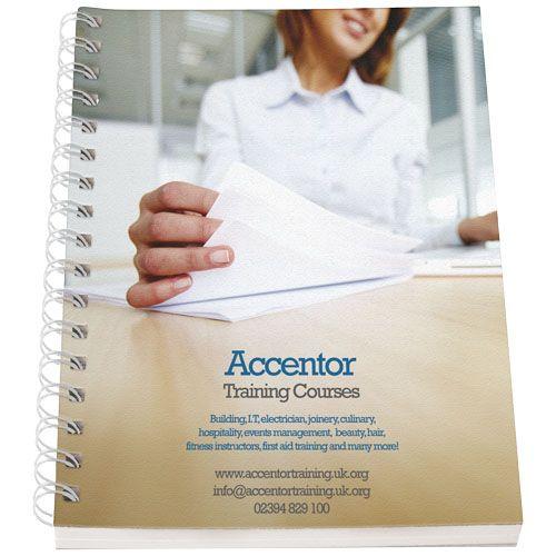 Notitieboekjes bedrukken Desk-Mate® A5 notitieboek met synthetische omslag 21271000