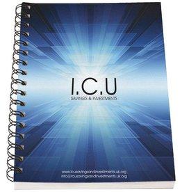 Notitieboekjes bedrukken Desk-Mate® A6 notitieboek met synthetische omslag