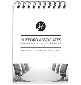 Notitieboekje bedrukken Desk-Mate® A7 notitieboek met synthetische omslag
