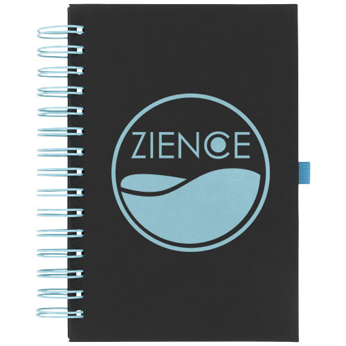 Notitieboekjes bedrukken Wiro notitieboek met kleurige spiraalrug 21021100