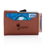 RFID Relatiegeschenk  bedrukken C-Secure aluminium RFID kaarthouder & portemonnee P850.51