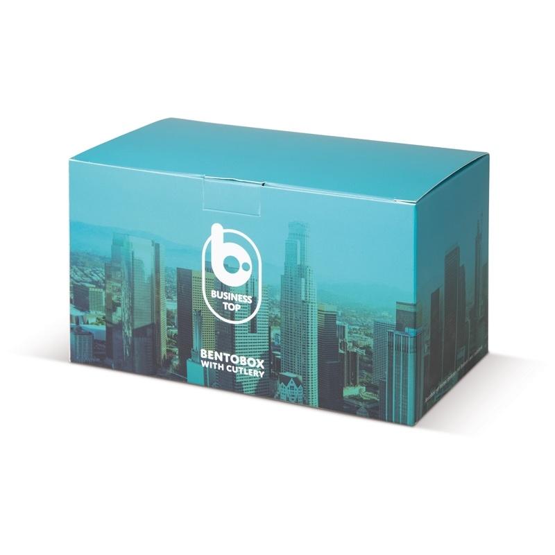 Broodtrommels bedrukken Bento box met bestek 1250ml - LT91107