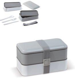 Broodtrommel bedrukken Bento box met bestek 1250ml - LT91107
