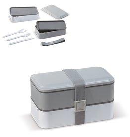 Broodtrommel relatiegeschenk Bento box met bestek 1250ml - LT91107