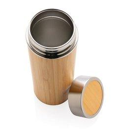 Thermo mok bedrukken Lekvrije bamboe vacuüm fles P436.239