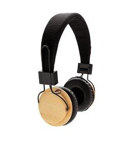 Hoofdtelefoons relatiegeschenk Bamboe draadloze hoofdtelefoon P329.169
