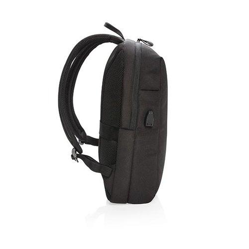 RFID Relatiegeschenk  bedrukken Swiss Peak RFID USB laptop rugzak PVC-vrij P762.501 bedrukt