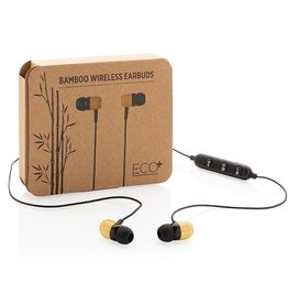 Bamboe draadloze oordoppen