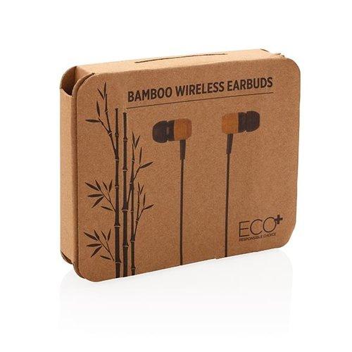 Oordopjes bedrukken Bamboe draadloze oordoppen P329.109 bedrukt