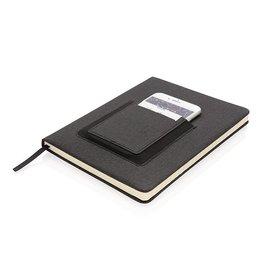Notitieboekjes bedrukken Luxe A5 Notitieboek met telefoonvak