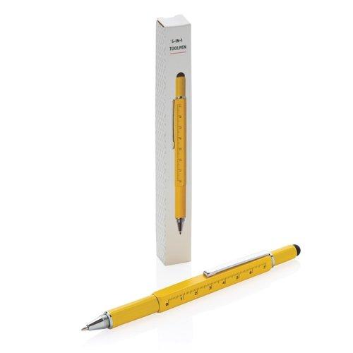 Tools relatiegeschenk 5-in-1 aluminium toolpen P221.551