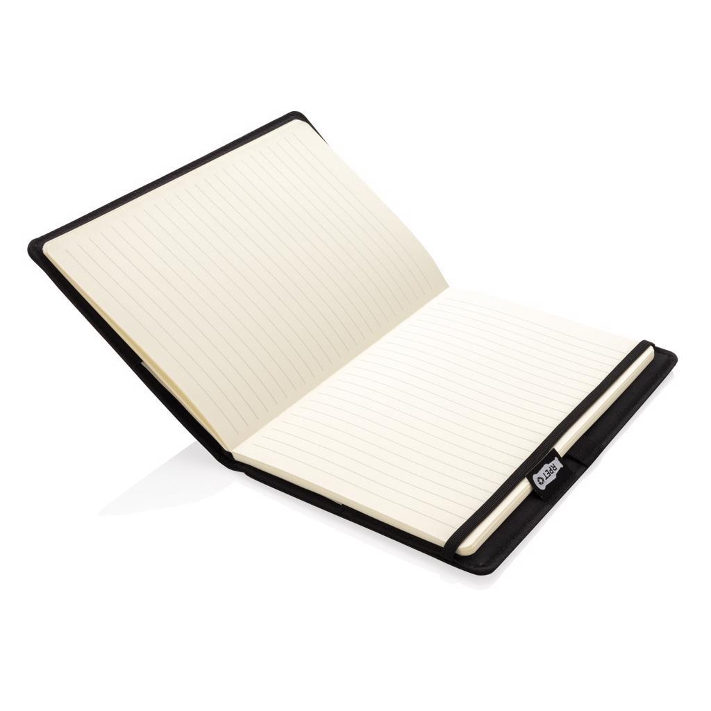 Notitieboekje bedrukken Air 5W rPET navulbaar A5 notitieboek  & draadloze oplader P774.061