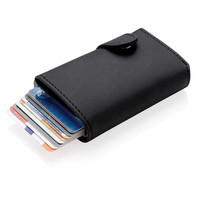Reisaccessoires bedrukken Standaard aluminium RFID kaarthouder met PU portemonnee P850.341