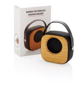 Speakers bedrukken Bamboe 3W draadloze fashion speaker P328.589