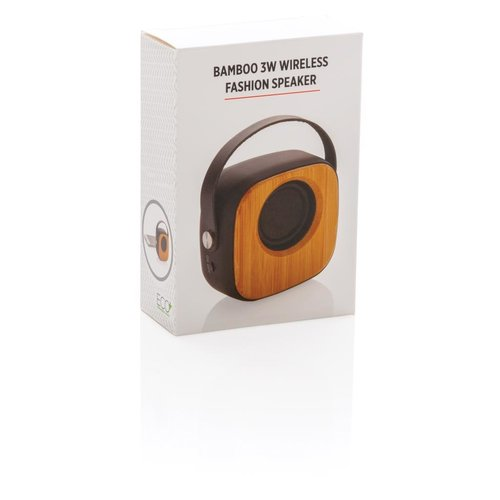 Speakers bedrukken Bamboe 3W draadloze fashion speaker P328.589