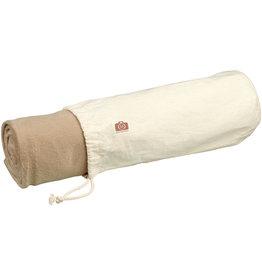 Fleece dekens relatiegeschenk Aira micro pluche fleece deken met katoenen opbergzak