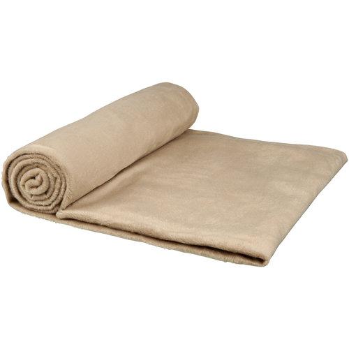 Fleece dekens bedrukken Aira micro pluche fleece deken met katoenen opbergzak