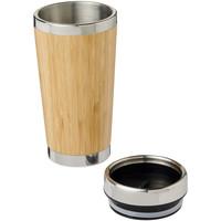 Thermo mok bedrukken Bambus 450 ml beker met buitenzijde van bamboe