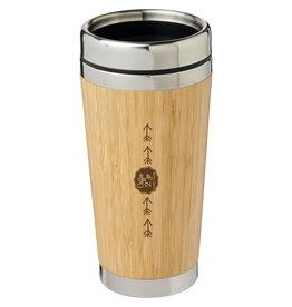 Thermosbeker bedrukken als relatiegeschenk Bambus 450 ml beker met buitenzijde van bamboe