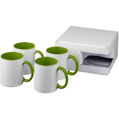 Mokken bedrukken Ceramic sublimatie mok 4 delige geschenkset