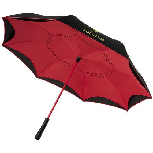 """Klassieke paraplu bedrukken Yoon 23"""" binnenstebuiten gekeerde rechte paraplu met frisse kleuren"""