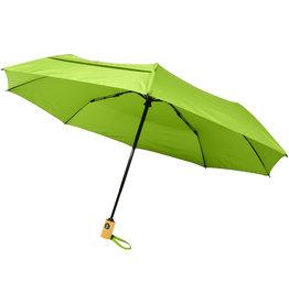 """Opvouwbare paraplu relatiegeschenk Bo 21"""" opvouwbare automatische gerecyclede PET paraplu"""