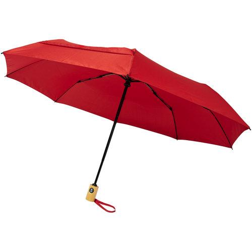 """Opvouwbare paraplu bedrukken Bo 21"""" opvouwbare automatische gerecyclede PET paraplu"""