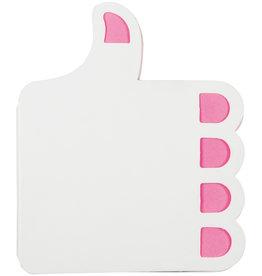 Memoblokken bedrukken Zelfklevende memoblaadjes Thumbs-up LT91824