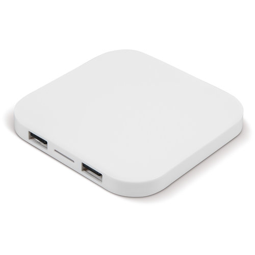 Opladers bedrukken Draadloos oplaadstation 5W met 2 USB poorten LT95078