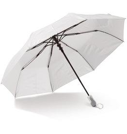"""Opvouwbare paraplu relatiegeschenk Opvouwbare 21"""" paraplu auto open (alleen wit) LT97110"""