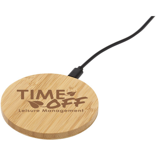 Opladers bedrukken Essence bamboe draadloos laadpad