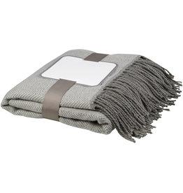 Fleece dekens relatiegeschenk Haven sprei met visgraatmotief