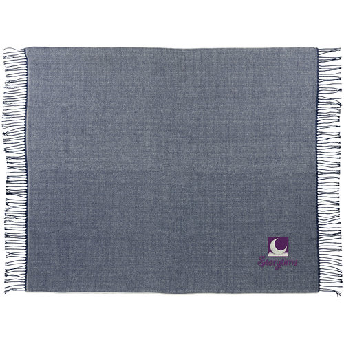 Fleece dekens bedrukken Haven sprei met visgraatmotief