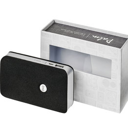 Luidsprekers bedrukken Palm Bluetooth® speaker met draadloze powerbank