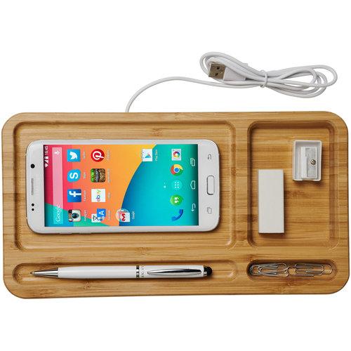 Smartphone accessoires relatiegeschenk Frame draadloos oplaadbare bureau-organizer