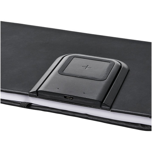 Notitieboekjes bedrukken Cation notitieboek met draadloos oplaadstation