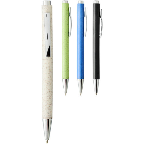 Pennen bedrukken Tual balpen van tarwestro met klikmechanisme