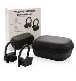 Oordopjes relatiegeschenk TWS sport oordoppen in oplaadcassette P329.051